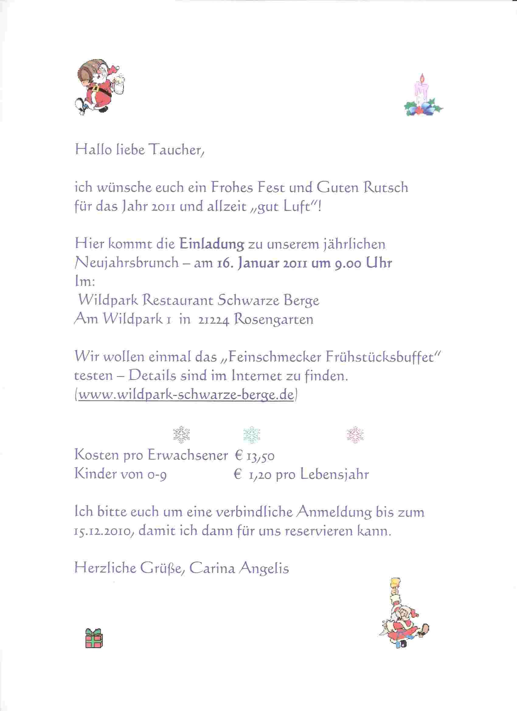 tsh tauchgruppe » blog archiv » einladung zum brunch am 16.01.2011, Einladung